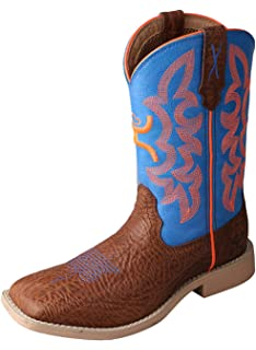 Twisted X Boys Neon Cowboy Boot Wide Square Toe
