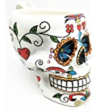 Colorful Day Of The Dead Skull Drinking Mug Home Decor
