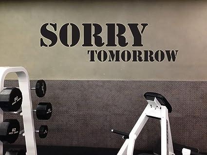 Amazon.com: art vinyl decals mbv work out essentials gym wall