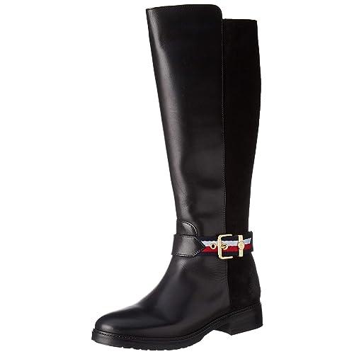 Tommy Hilfiger Damen Corporate Belt Long Boot Hohe Stiefel, 69690ba66c