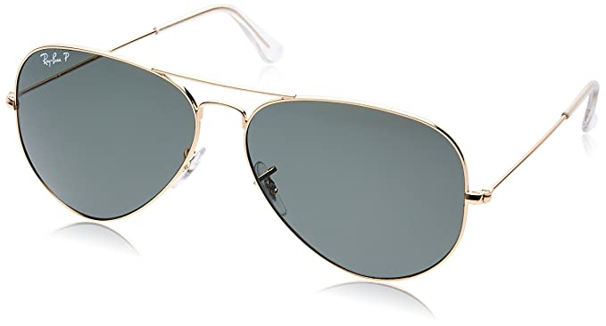 f7bfcc357cc Ray-Ban Aviator Sunglasses (Natural Green) (0RB3025001 5862)  Amazon ...