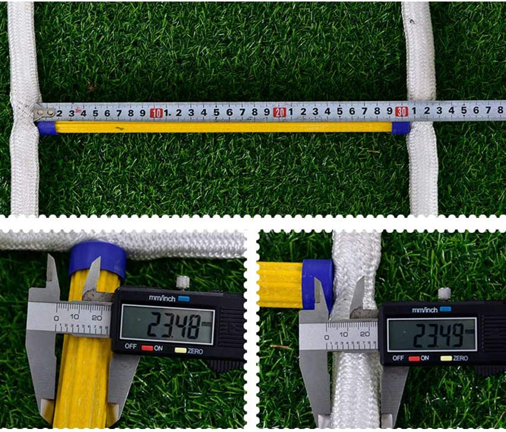 Escalera Plegable Telescopica 5-20 Metros Port/átil Escalera Cuerda Escalada de Emergencia con Ganchos Capacidad de 300 Kg,with Full Body Harness,5 m Resistente Llamas