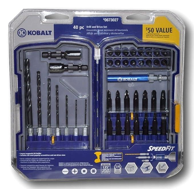 Amazon.com: Kobalt 40 Pc Drill and Drive Set - 1/4