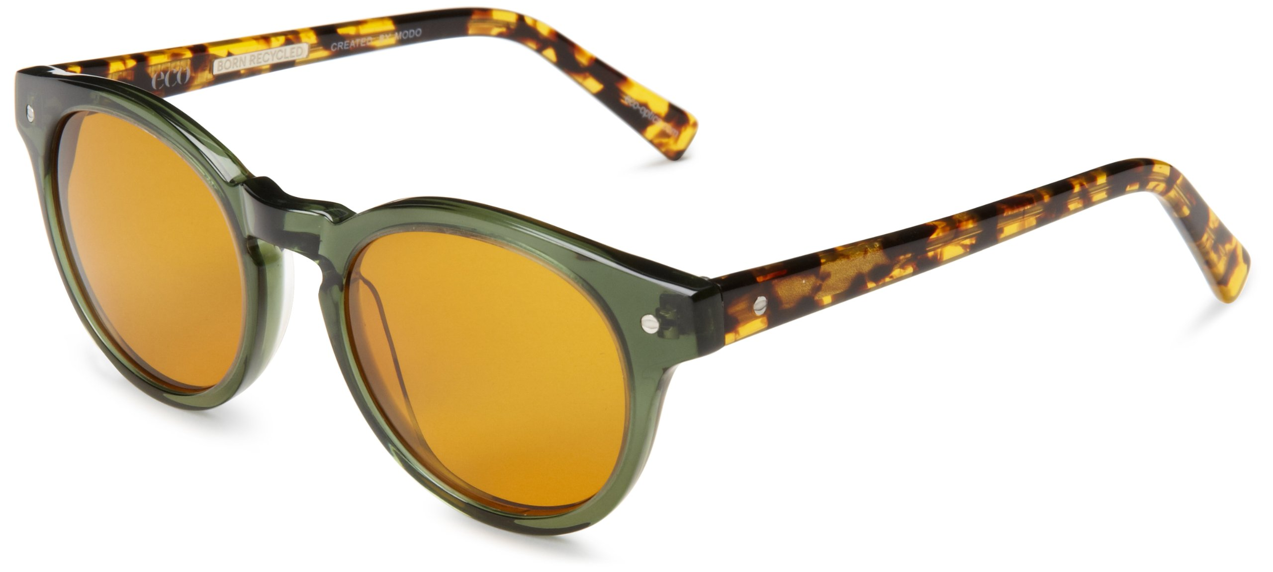eco Dubai Round Sunglasses, Forest, 50 mm