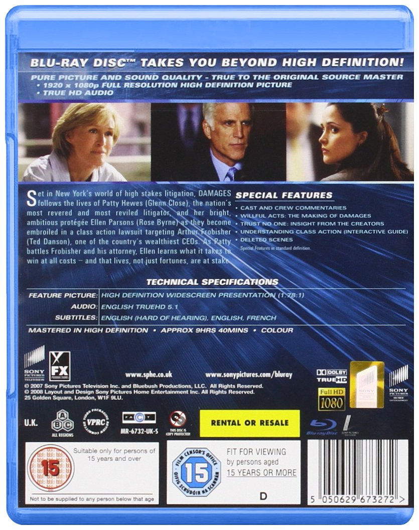 Damages: Season 1 [Blu-ray] by Imports
