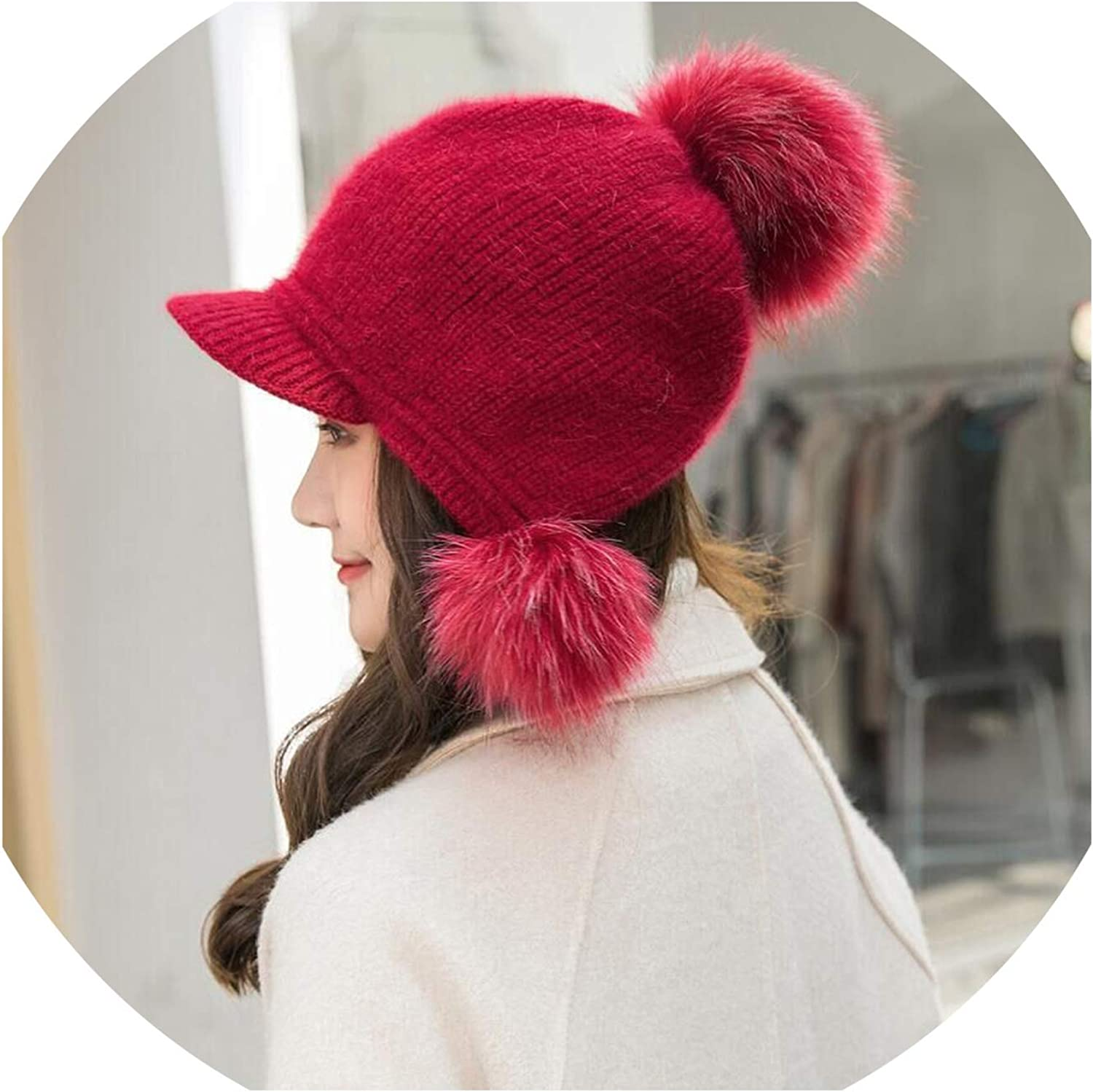 Hat Women Knitted Casual...