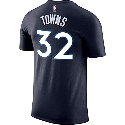 86ae006cf Outerstuff Karl-Anthony Towns Minnesota Timberwolves  32 Navy Youth  Performance Name   Number Shirt