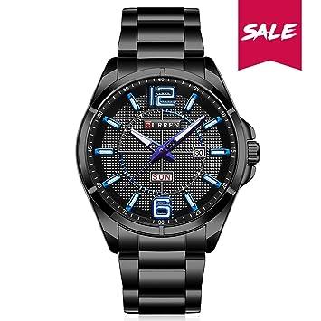 Curren cuarzo reloj para hombres, calendario y Semana Muestran, impermeable acero inoxidable reloj japonesa