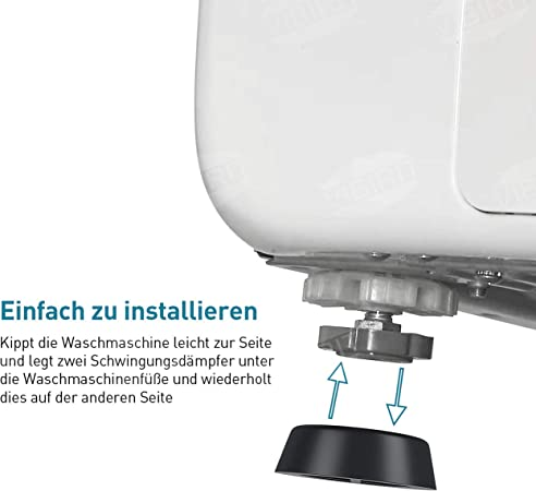VIBIRIT Amortiguador de Vibraciones para Lavadora y Secadora ...