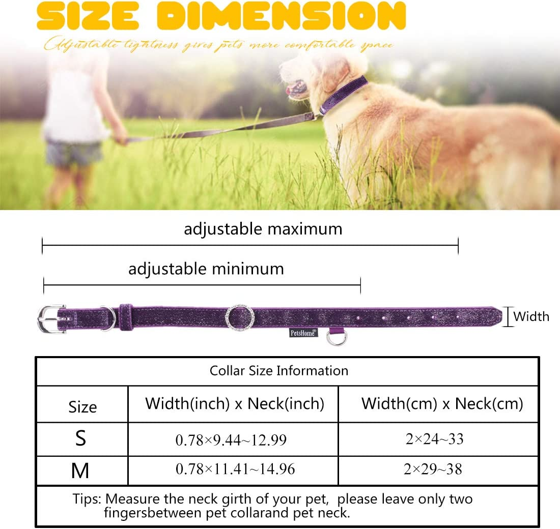 PetsHome Dog Collar Genuine Leather Woven Belt Adjustable Collars for Small Dog and Cat Medium Mint Green Colorful Canvas Cat Collar,