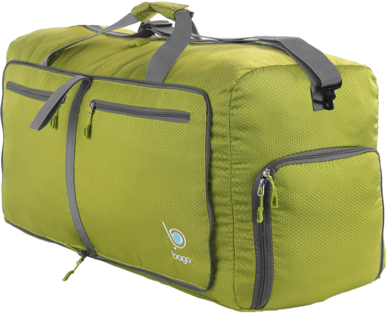 Bago 80L Duffle Bag for Women & Men - 27'' Travel Bag Large Foldable Duffel bag (Green)