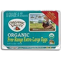 Organic Valley, Organic Free-Range Extra Large Brown Eggs - Half Dozen (6 ct)