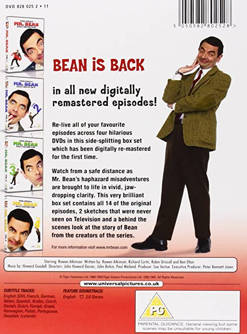 Mr Bean Series 1 Volume 1 4 Digitally Remastered 20th Anniversary