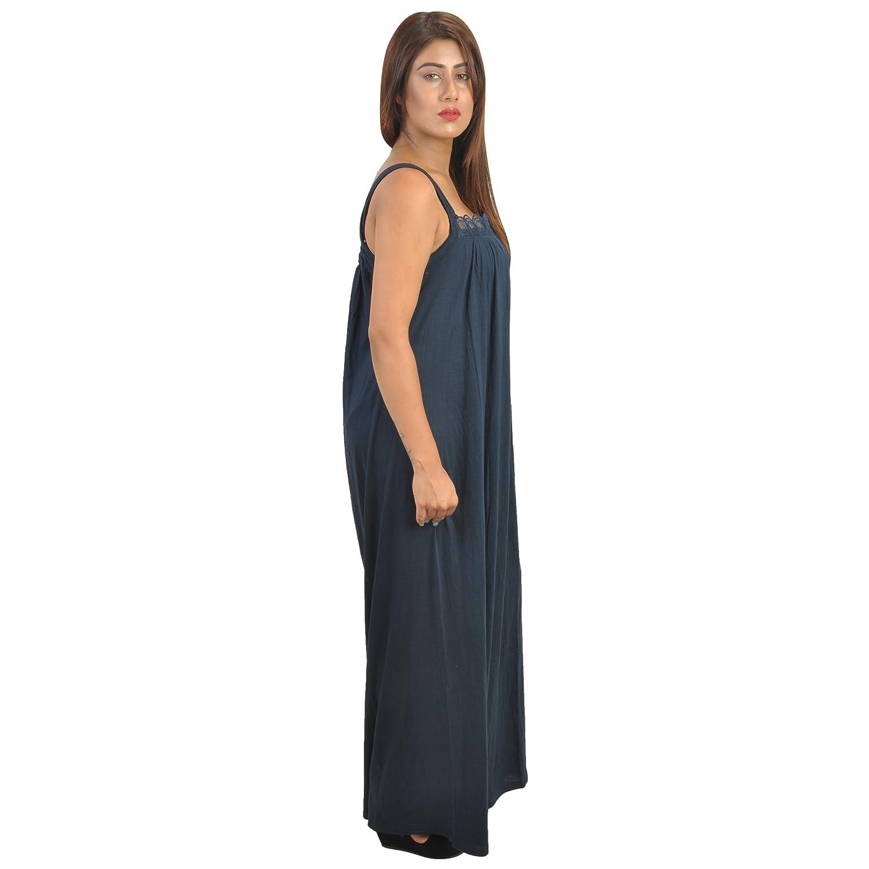 dffad98176 Piyali s Creation Women s Dark Blue Coloured Cotton Made Nightwear for  Women s  Amazon.in  Clothing   Accessories