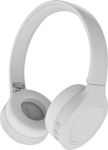 Kygo Life A4 300 On-Ear Bluetooth Headphones, aptX Codecs, Built-in Microphone, Memory Foam Ear Cushions, 16 Hours Playback White