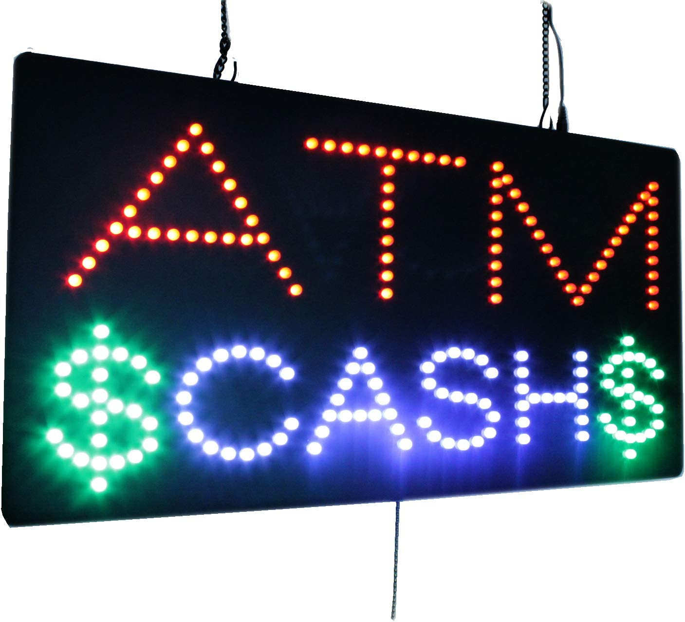 ATM Cash Sign, TOPKING Signage, LED Neon Open, Store, Window, Shop, Business, Display, Grand Opening Gift