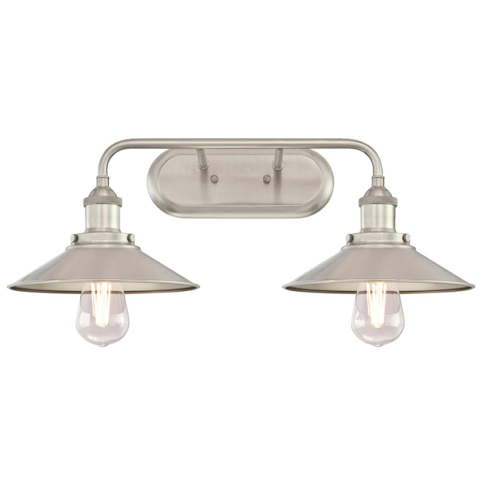 Westinghouse Lighting 6336300 Maggie Two-Light Indoor Wall Fixture, Brushed Nickel Finish 2