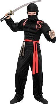 WIDMANN Disfraz de Ninja musculoso para niño - 5-7 años ...