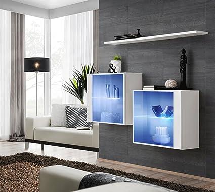 Vetrine sospese per soggiorno eleganti Vidal cm130x110x30 finitura ...