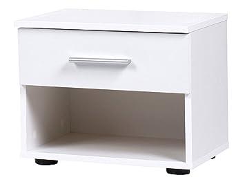 Nachtschrank Nachttisch Kommode 2 Stück Beistelltisch Nachtkonsole Schrank Weiß