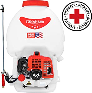 Tomahawk 5 Gallon Gas Power Backpack Pesticide/Fertilizer Sprayer for Mosquitoes and Ticks
