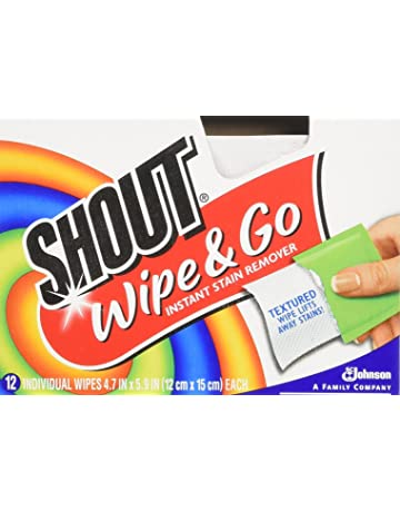 Johnson Wax 02246 Shout Wipes con 12 Toallitas