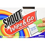 SC Johnson 02246 Shout Instant Stain Remover Wipes - 12