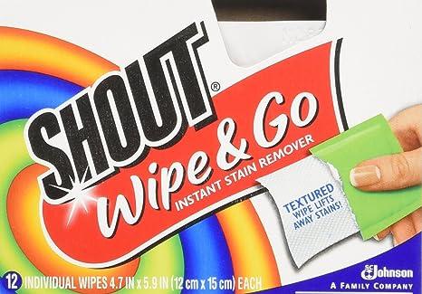 Johnson Wax 02246 Shout Wipes con 12 Toallitas