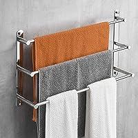 Lolypot Handdoekstang, 304 roestvrij staal, handdoekhouder, wandrek, handdoekrek, wandmontage 40 cm, 3 stangen…