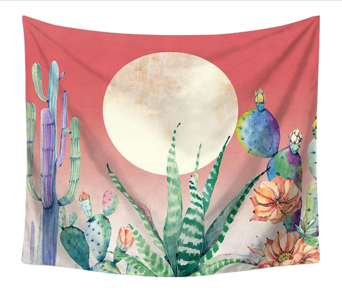 WAWAYA Psychedelic Catus Decor Tapestry Colorful Wall Hanging Tapestry Hoem Decor Beach Towels Blankets 1 a