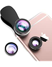 Mpow Fisheye Lens,3 in 1 Clip-On 180 Degree Supreme Fisheye Lens + 0.65X Wide Angle Lens + 10X Macro Lens for iPhone XS MAX/X/8/7/6s/6s Plus/5/5S/SE/4 Samsung S8 Plus HTC Huawei and other Smartphone