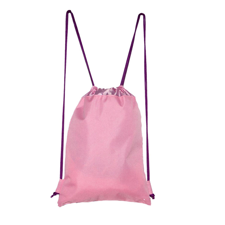 Disney Sofia The First Drawstring Backpack School Sport Gym Tote Bag Light Pink