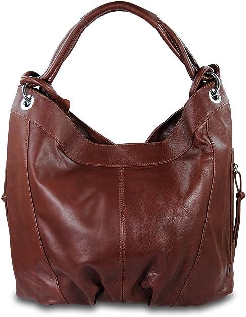 XL Leder Damen Tasche Handtasche Schultertasche Shopper Bag Schwarz Ledertasche