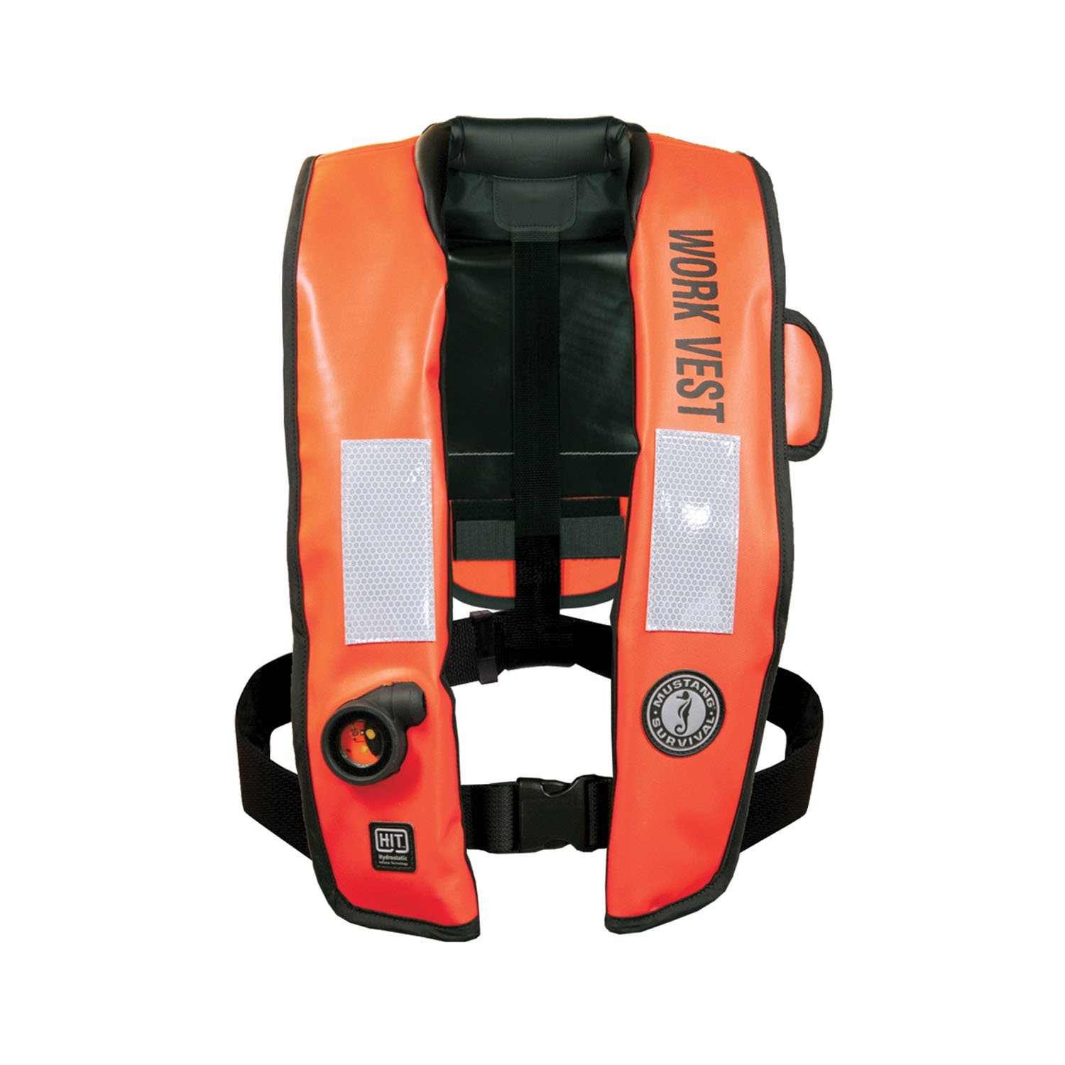 Mustang Inflatable Work Vest WithHIT Orange by Mustang Survival   B00C7MEWGC