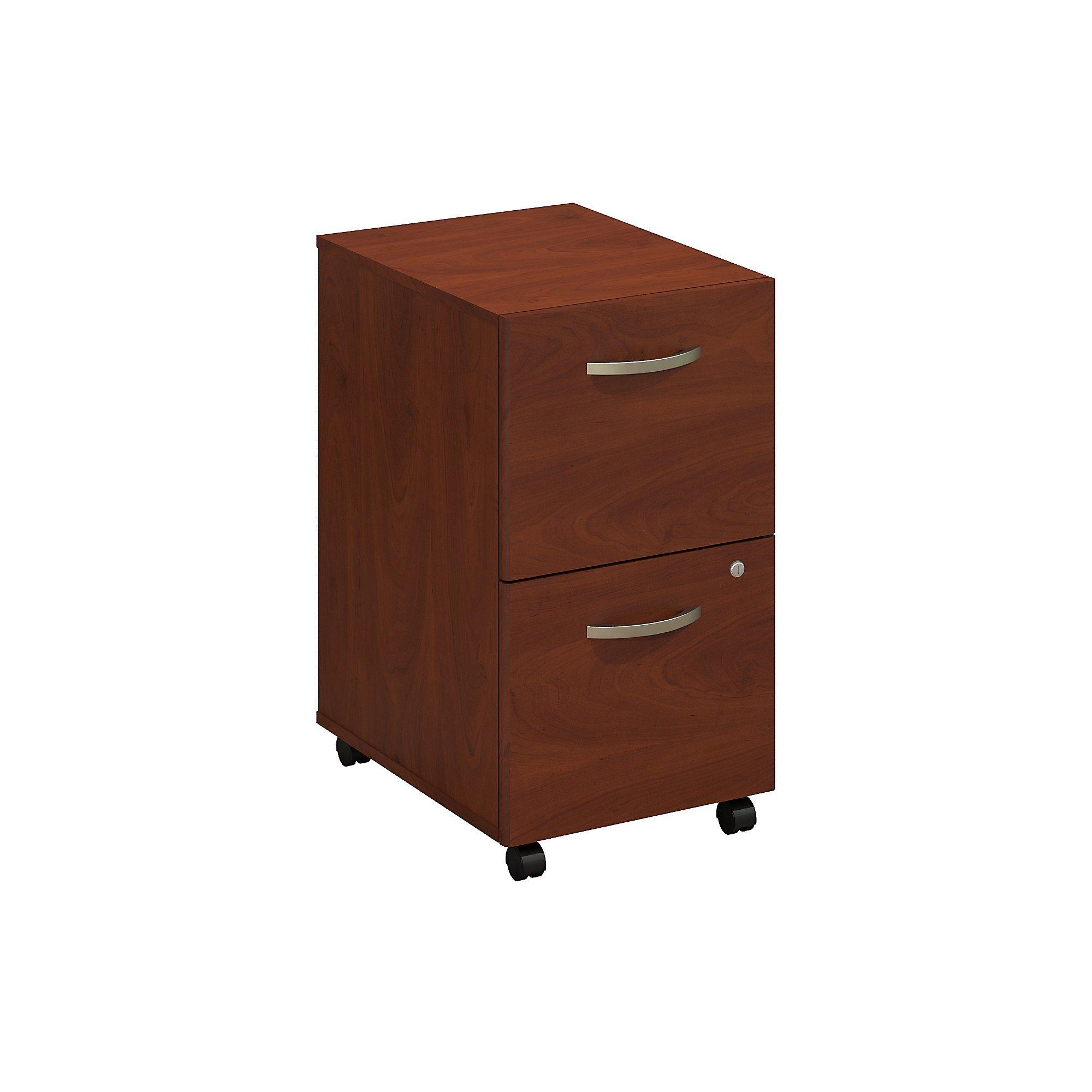 Bush Business Furniture Series C Elite 2 Drawer Mobile File Cabinet in Hansen Cherry by Bush Business Furniture
