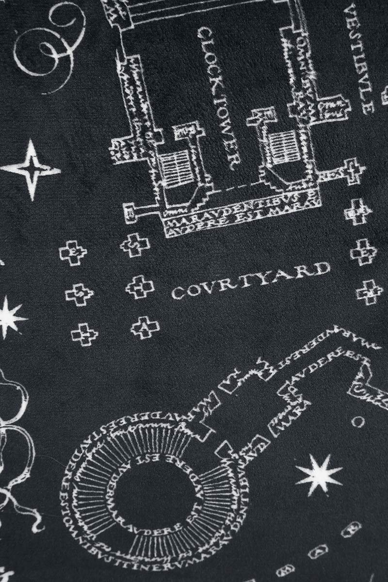 Harry Potter Marauders Map - Set de 2 Almohadas Negro/Beige ...