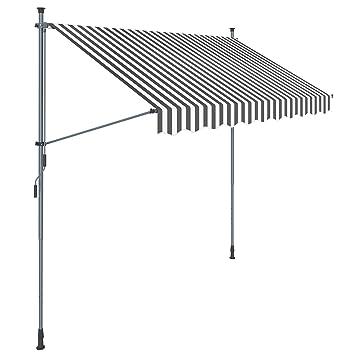 Fabulous Amazon.de: SONGMICS Klemmmarkise, 250 cm, Balkonmarkise XM55