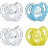 Tommee Tippee Ultra-Light Silicone Baby Pacifier, Boy - 6-18m, 4pk, Blue
