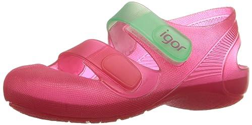 9de6e47dd Igor Zapatillas de agua para niña con Velcro Modelo Bondi Bicolor  Fucsia aguamarina