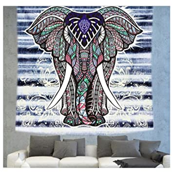KRWHTS Tapestry Polyester Wall Tapestry Indian Elephant Tapestry Lotus Yoga Mat Home Decor Carpet toalla mandalas