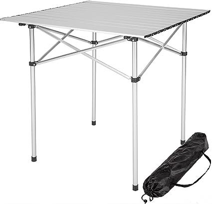 Mesa de camping TecTake, portátil y plegable