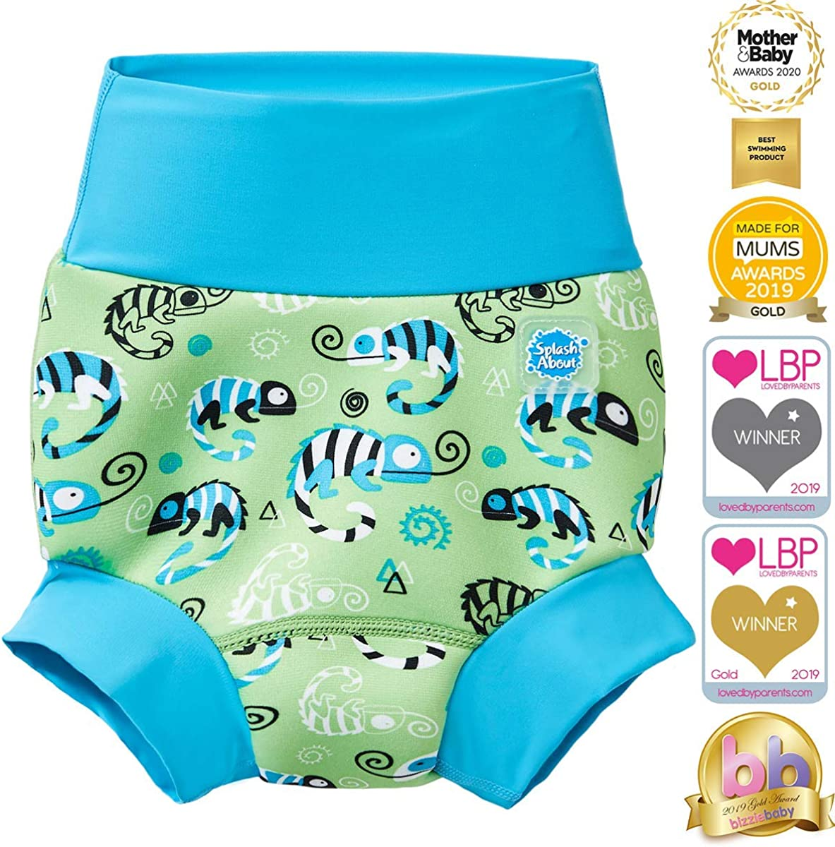 ,2-3 years Green Gecko Splash About Baby Kids New Improved Happy Nappy,Green