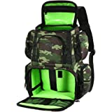 Lixada Fishing Tackle Backpack Multifunctional Fishing Tackle Utility Bag Large Waterproof Tackle Bag Storage with 4