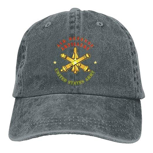 c6f28335c4bd94 CAPADANA Mens Cotton Washed Twill Baseball Cap Air Defense Artillery US  Army Hat at Amazon Men s Clothing store