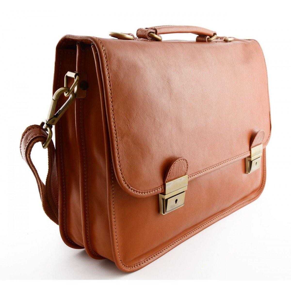 Leather Business Bag Color Honey