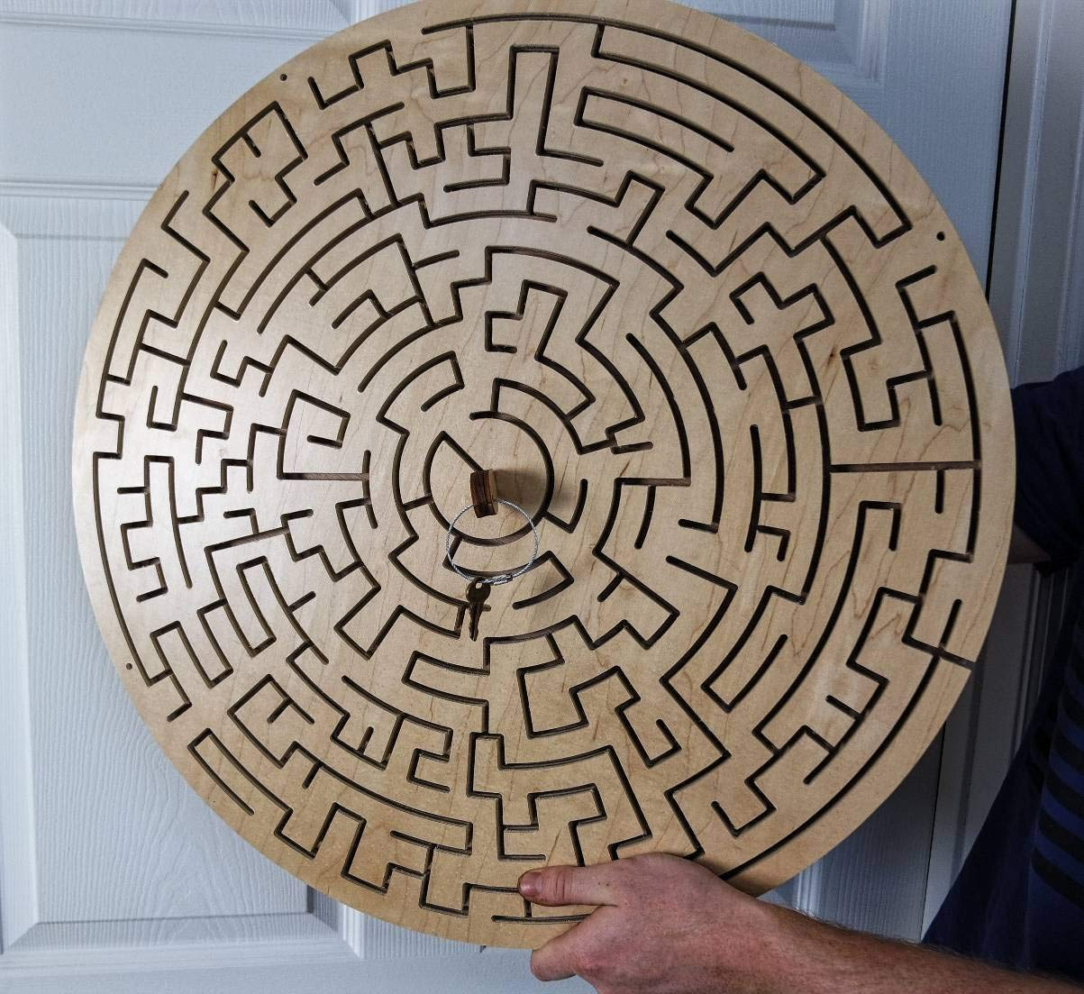 Escape Room rugged Round Key Maze Double Lock Version