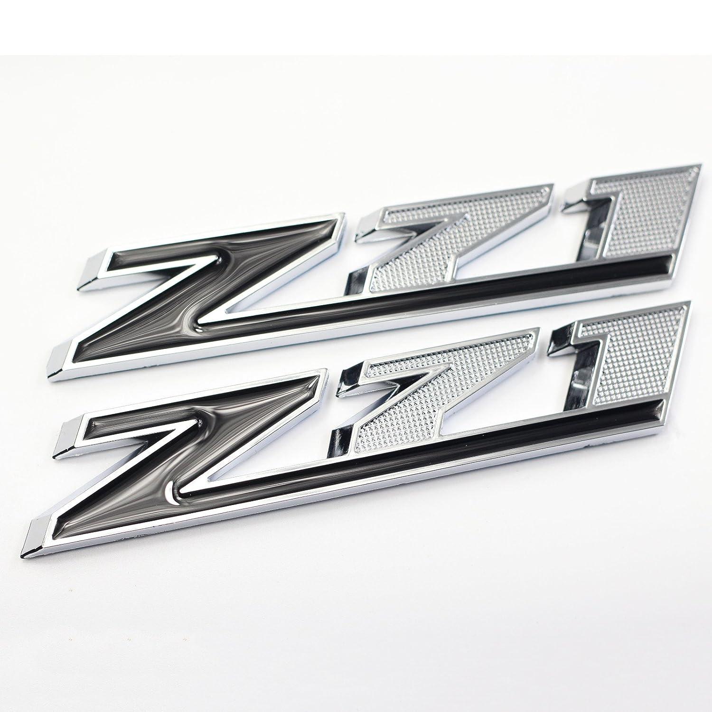 Amazon com 5 inch black and chrome z71 emblem badge sticker decal for chevy silverado sierra suburban 2500hd 3500hd automotive