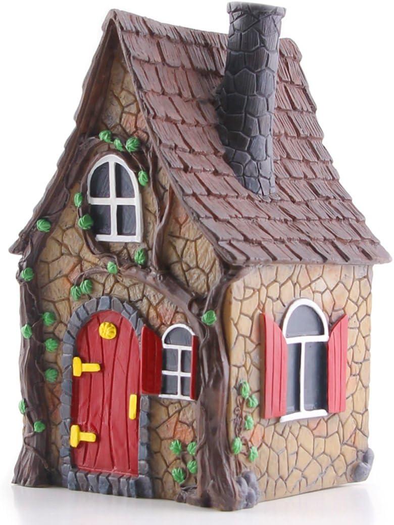 Fairy Garden Miniature House – Mini Cottage w Swinging Door 510