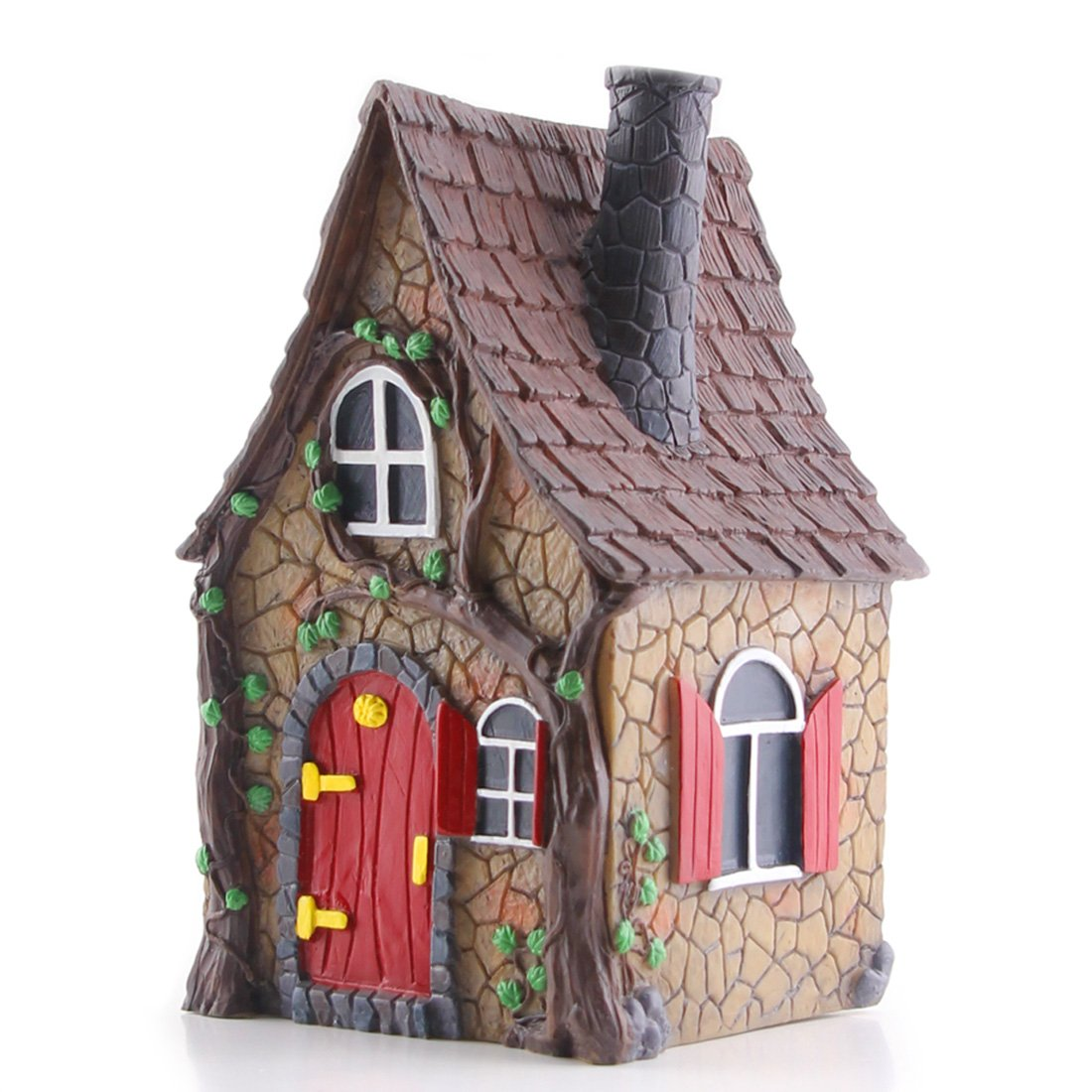 "Fairy Garden House - Mini Ivy Cottage 7"" Tall By Fairying"