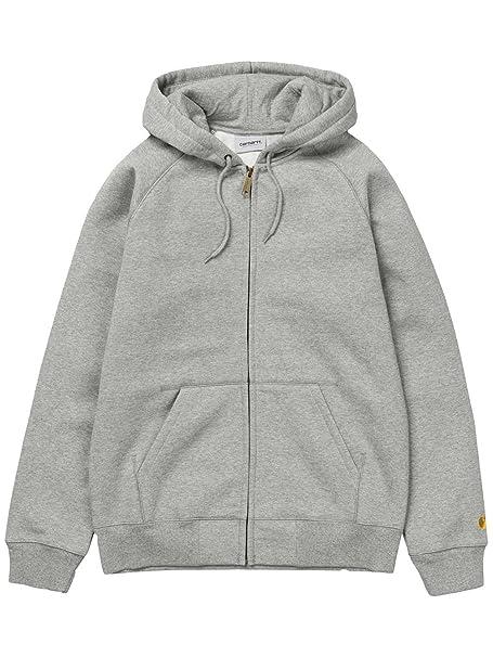 8ae7ed9d7ab02 Carhartt - zip-through Sudaderas - Hombre - gris claro chaqueta con cremallera  Sudadera con capucha para hombre gris gris Small  Amazon.es  Ropa y ...
